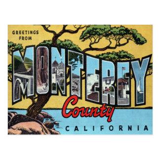 Monterey California Large Letter Postcard