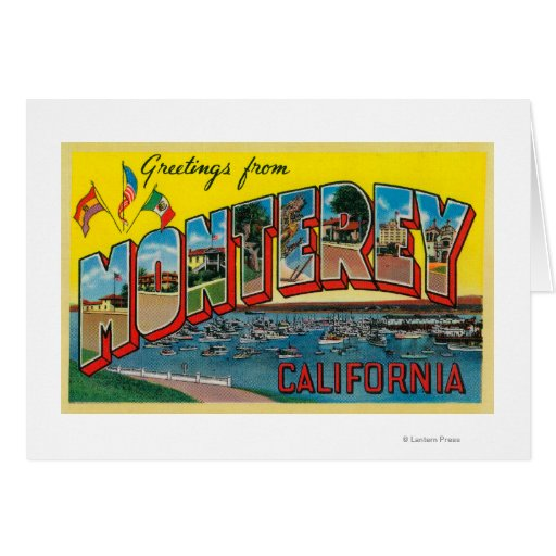 Monterey, California - Large Letter Scenes Card