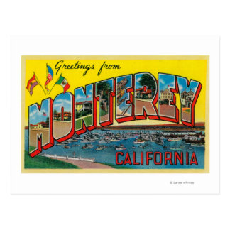 Monterey, California - Large Letter Scenes Postcard