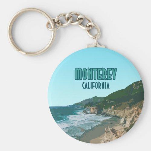 Monterey California Pacific Coast Highway Vintage Keychain