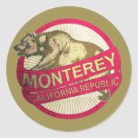 Monterey California vintage bear stickers