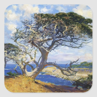 Monterey Cypress by Guy Rose Square Sticker