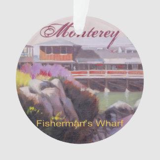 Monterey Fishermans Wharf Scenic California Coast Ornament