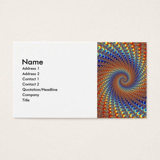 Monterey Fractal Art Business Card
