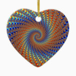 Monterey Fractal Art Ceramic Ornament