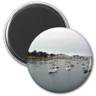 Monterey Harbor Water Boats Fridge Magnets