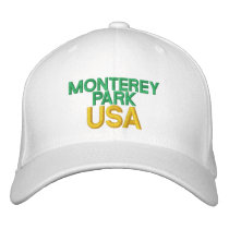 Monterey Park USA Embroidered Baseball Hat