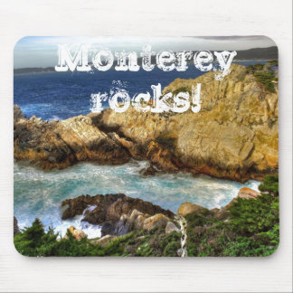 Monterey rocks! mouse pad