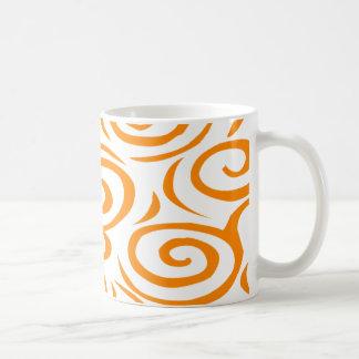 Monterey Swirl Mug-Orange Coffee Mug