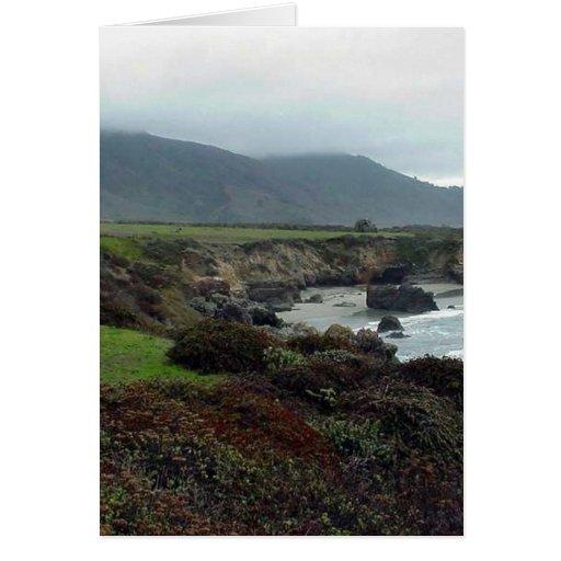Monterey Waves Beach Coast Ocean Water Greeting Cards