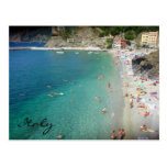 monterosso blue waters postcard