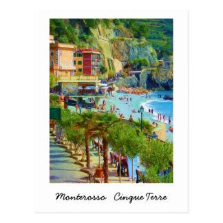 Monterosso, Cinque Terre, Italia Tarjeta Postal