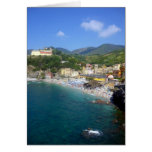 monterosso coast greeting card