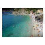 monterosso waters greeting card