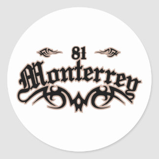 Monterrey 81 pegatina redonda