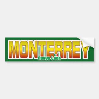 Monterrey Bumper Car Bumper Sticker