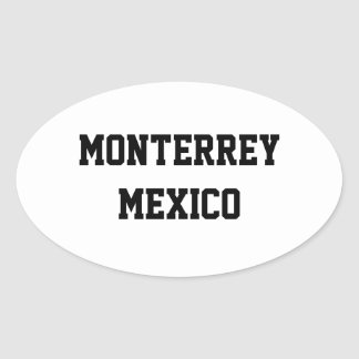 Monterrey Mexico oval stickers