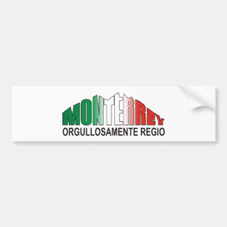 MONTERREY ORGULLOAMENTE REGIO PEGATINA PARA AUTO