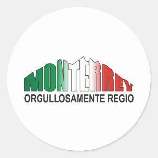 MONTERREY ORGULLOAMENTE REGIO PEGATINA REDONDA