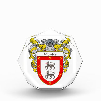 Montes Coat of Arms Family Crest Awards
