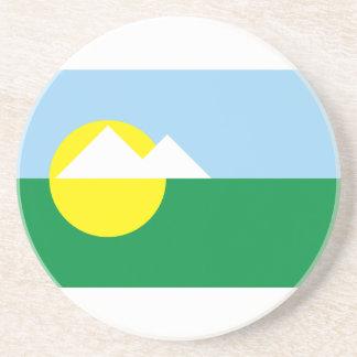 Montesclaros Minasgerais bandera del Brasil, el Br Posavasos De Arenisca