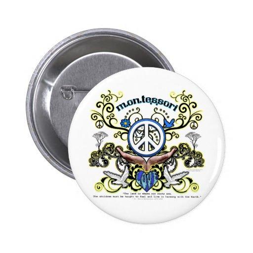 Montesori Peace 2 Inch Round Button