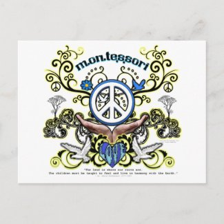 Montesori Peace postcard