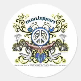 Montesori Peace Classic Round Sticker