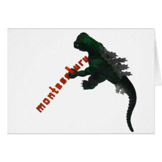 Montessaurus deletrea su tarjeta de nota conocida