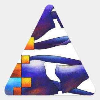 Montessimia V1 - ancient fossils Triangle Sticker