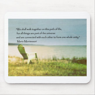 montessori beach scene quote mouse pad
