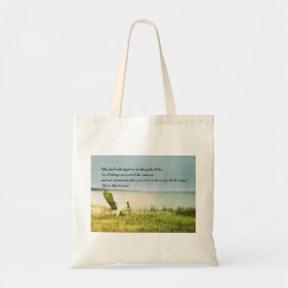 montessori beach scene quote tote bag