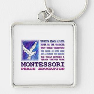 Montessori Dove Key Chain