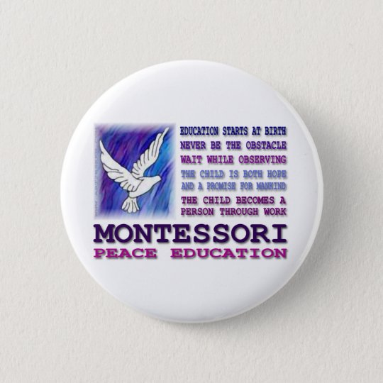 Montessori Dove Pinback Button