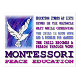 Montessori Dove Postcard