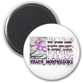 Montessori Iris 2 Inch Round Magnet