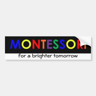 Montessori para una pegatina para el parachoques m etiqueta de parachoque