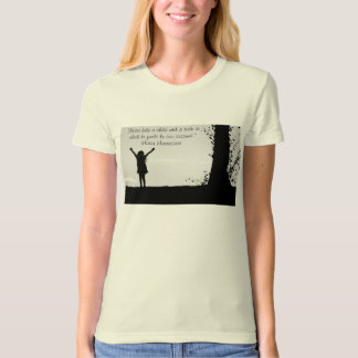 Montessori quote helping vs independence t-shirt