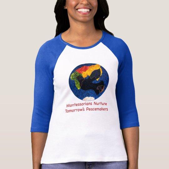 Montessorians Nurture Peace Quarter Sleeve T-Shirt