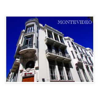 montevideo architecture postcard