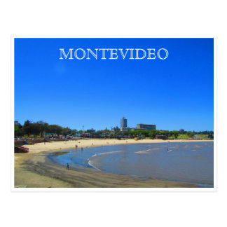 montevideo beach postcard
