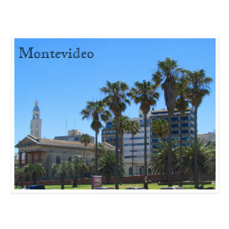 montevideo cathedral postcard