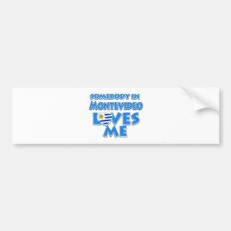 Montevideo design bumper sticker