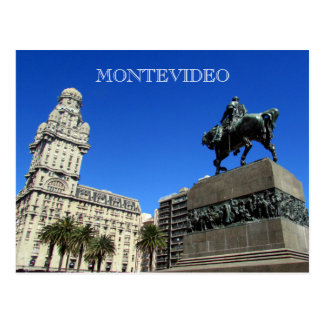 montevideo independencia plaza postcard