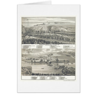 Montevideo, MN Panoramic Map - 1874 Card