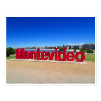 montevideo sign postcard