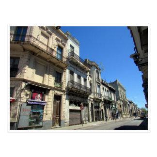 montevideo streets postcard