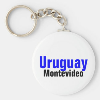 Montevideo,Uruguay Custom Collection Basic Round Button Keychain