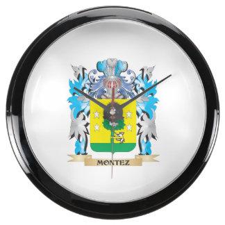 Montez Coat of Arms - Family Crest Aquavista Clock