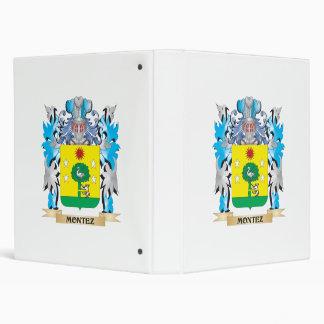 Montez Coat of Arms - Family Crest 3 Ring Binder